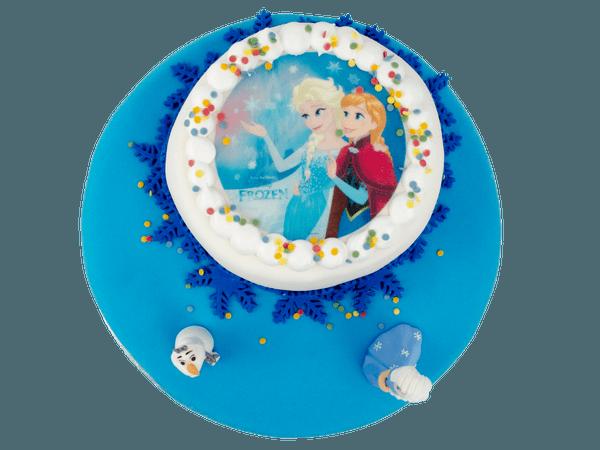 Frozen 3D taart met afbeelding