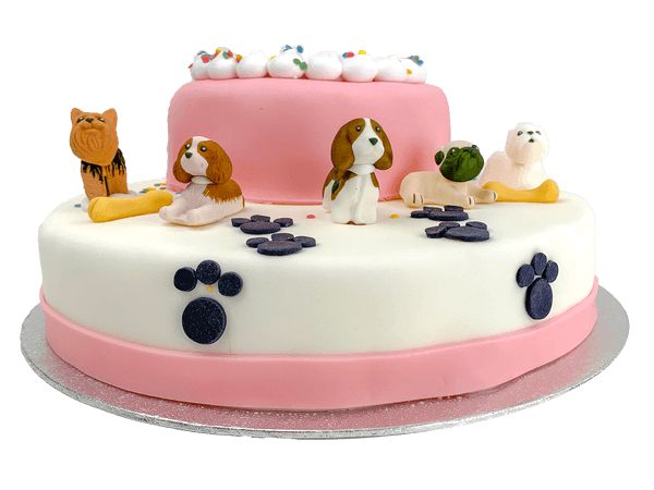 3D Little Dogs Taart