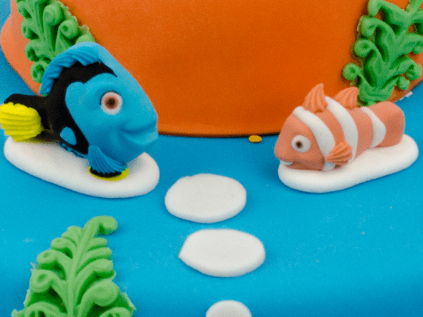 Nemo taart met marsepein