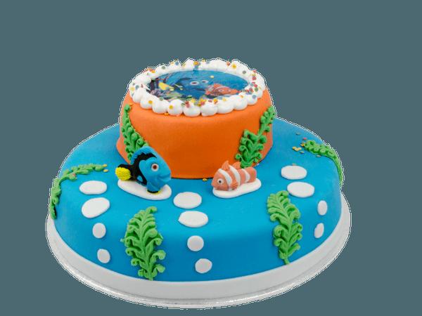 Nemo 3D taart met suikerfiguurtjes