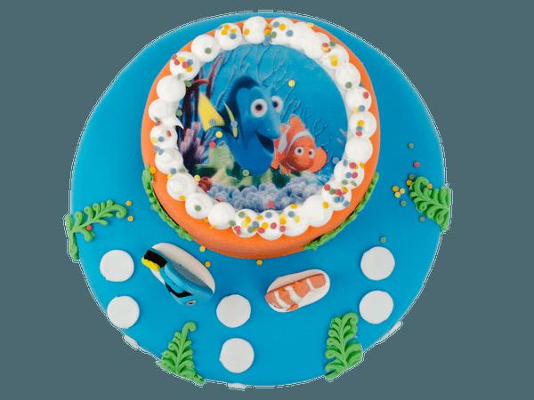 Nemo taart met afbeelding
