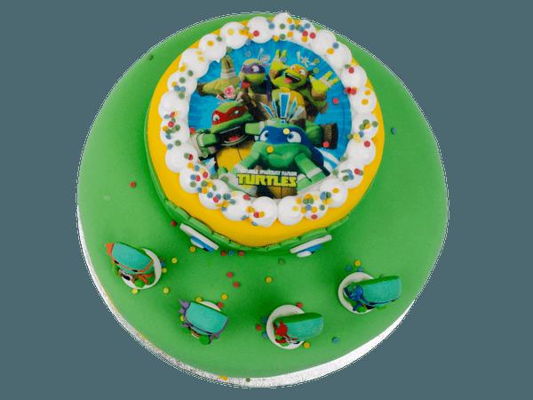 Ninja Turtles Taart met afbeelding