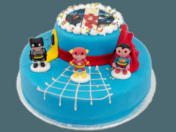 Superhelden 3D met suikerfiguurtjes