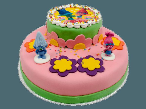 Trolls 3D taart