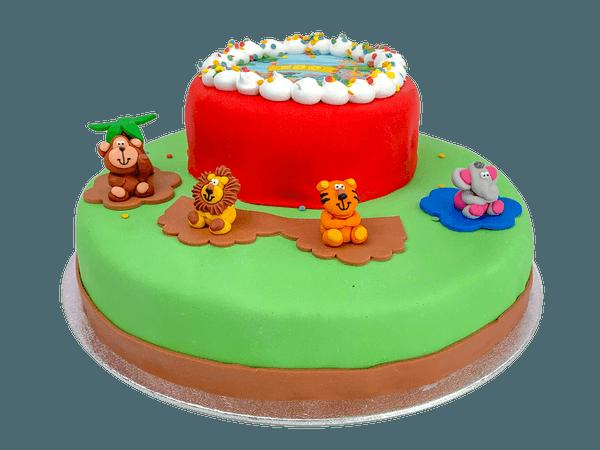 3D Zoo Animals Taart