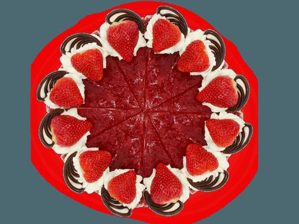 Aardbeibavaroise Taart met Chocolaatjes