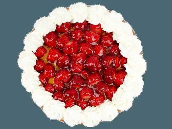 Aardbeienvlaai met slagroomrand