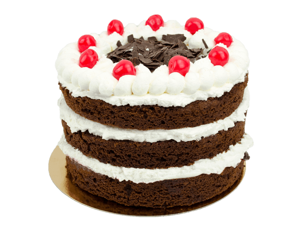 Black Forest Layercake met kersen en chocolade krullen