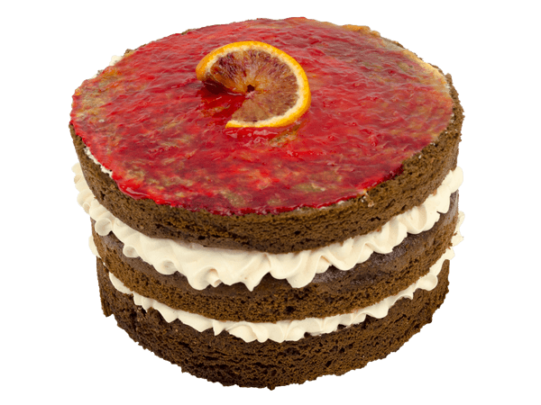 Bloody Orange Layer Cake