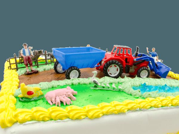Taart met boerderijthema
