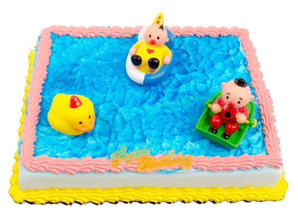 Bumba figuurtjes op een taart