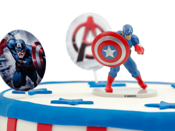 Captain America kindertaart
