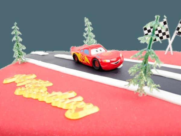 Cars Lightning McQueen taart