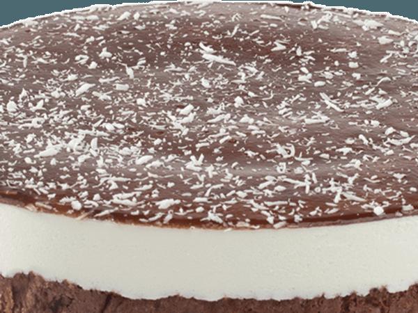 Kokos Bavarois Chocolade Biscuit