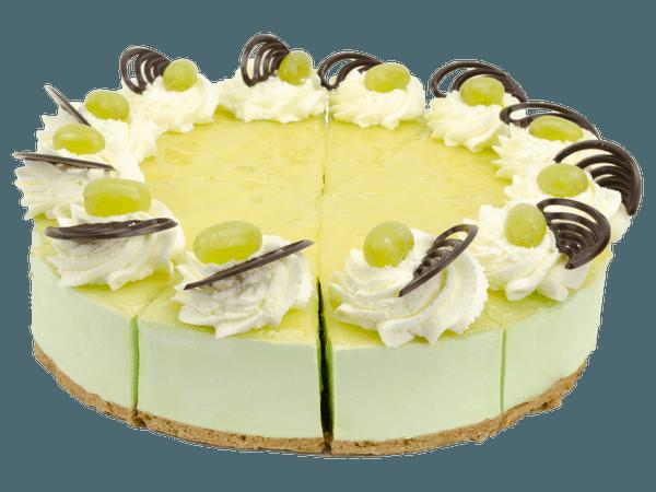Citroenbavaroise taart met slagroom