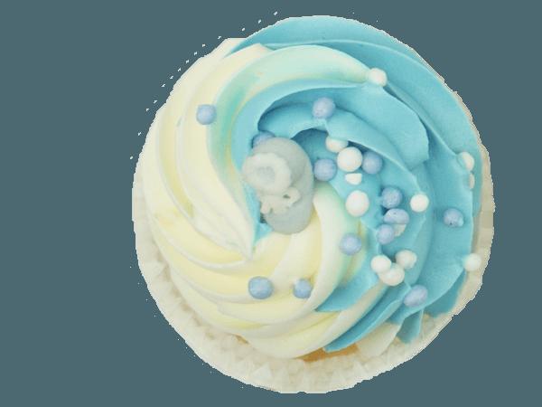 Pasgeboren Jongen Cupcake