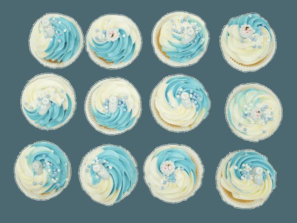 Nieuwgeboren Jongen Cupcakes