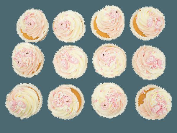Roze Cupcake met Muisjes