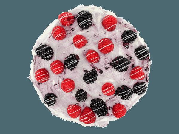 Bosvruchten layercake met vanille cake en bosvruchtenvulling