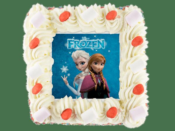frozen kindertaart met snoepgoed