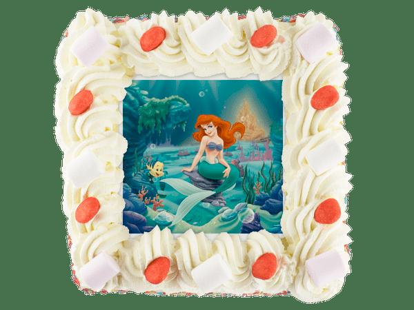 kleine zeemeermin taart met snoepjes