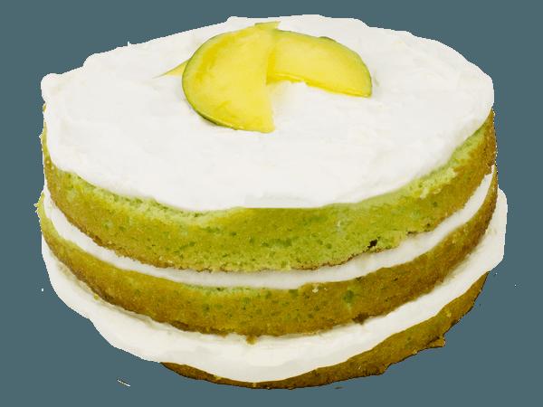 Frisse mango layercake met verse mango en bavaroise van yoghurt en slagroom