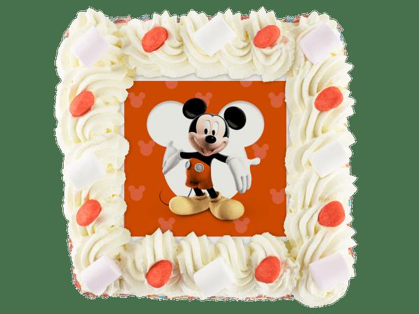 mickey mouse kindertaart met snoepjes