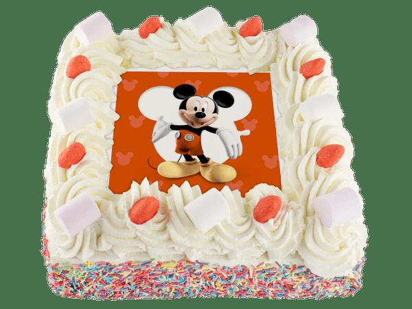 mickey mouse slagroomtaart