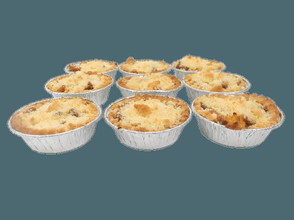 Heerlijke mini appel kruimel taartjes