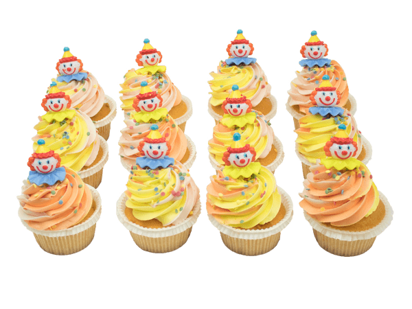 Party Cupcakes met Clowntjes