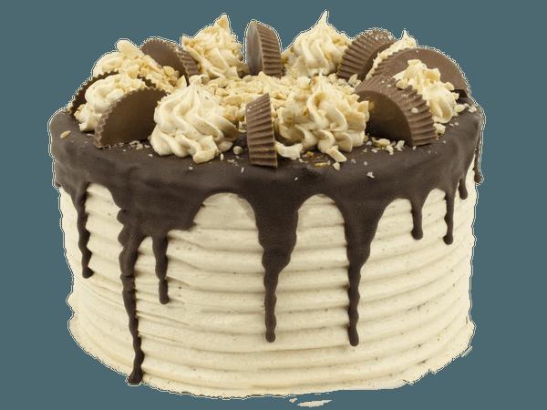 Chocola en Pindakaas layercake met creme rozetjes