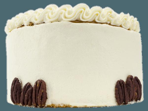 Pecan Layercake lekker knapperig en met heerlijke pinda crème