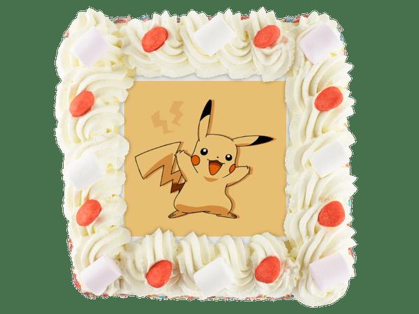 pikachu slagroomtaart met kindersnoepjes