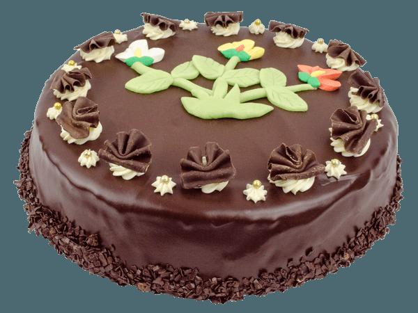 Ronde Chocoladetaart met krullen