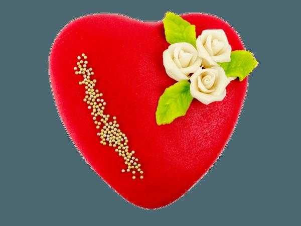 Rood marsepeinen hart