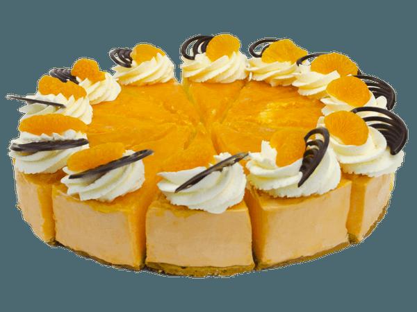 Sinaasappelbavaroise Taart met vers fruit