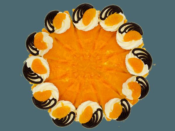 Sinaasappelbavaroise Taart met Chocolaatjes