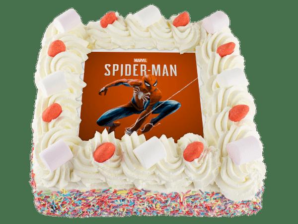 spiderman slagroomtaart