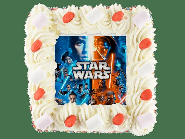 star wars taart met snoepjes