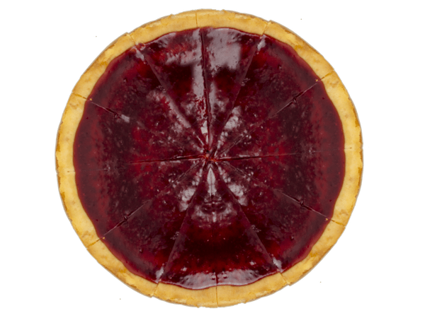 Glanzende Aardbeien Cheesecake