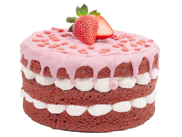 Strawberry love cake met aardbeien en slagroom