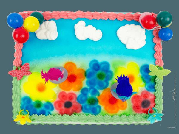 Trolls taarts met crèmerandje