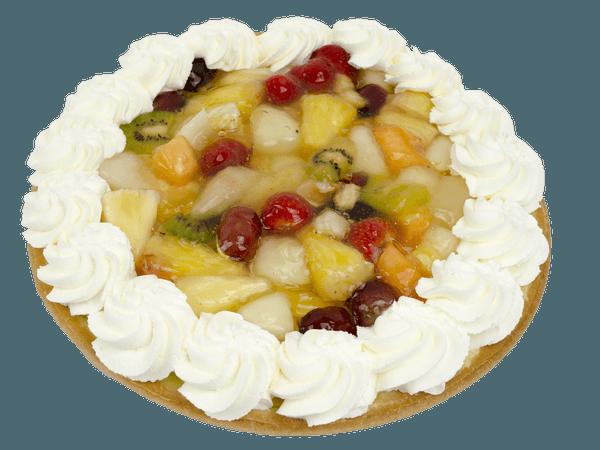 Vruchtenvlaai met slagroomrand